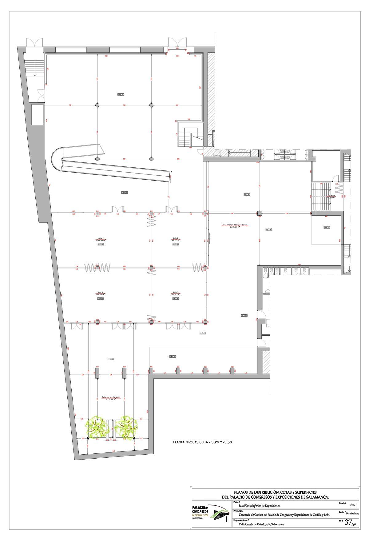 Plano Área de exposiciones Palacio de Congresos de Salamanca
